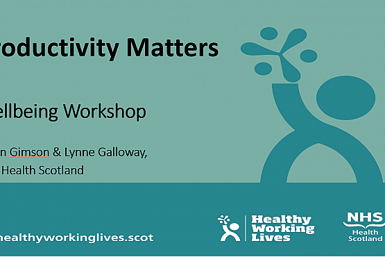 Productivity Matters – Wellbeing workshop